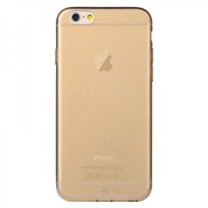 Полупрозрачный чехол Baseus Simple золотой для iPhone 6 Plus/6S Plus