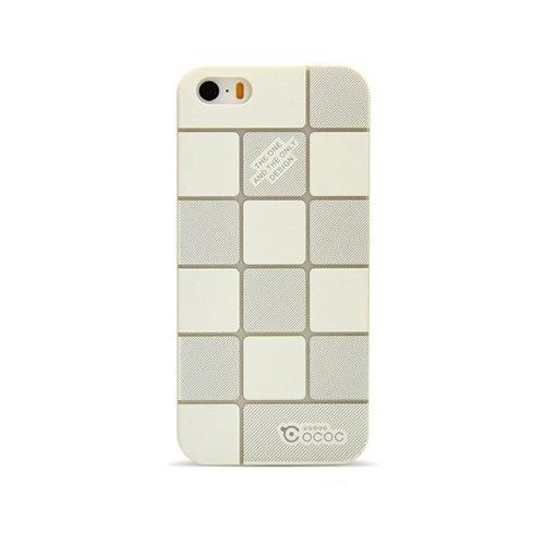 Пластиковый чехол Cococ Square белый для iPhone 5/5S/SE