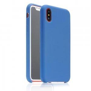Силиконовый чехол Coteetci синий для iPhone X/XS