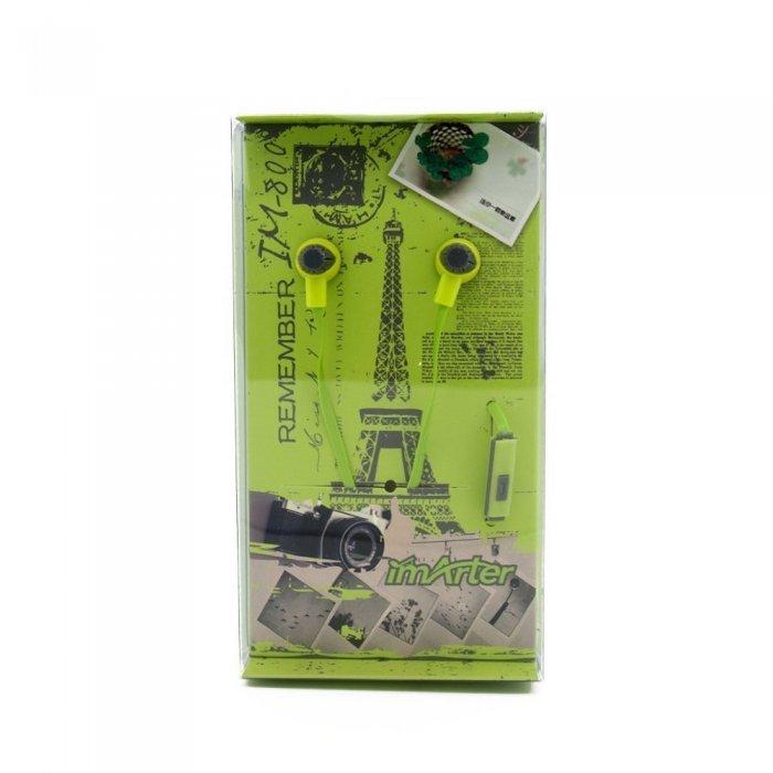 Наушники imArter Provence IM-800 с микрофоном, зеленые