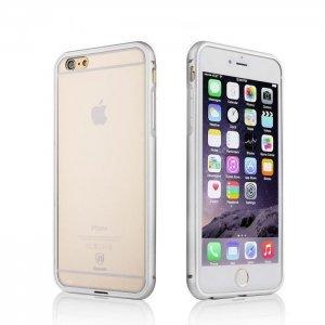 Чехол-накладка для Apple iPhone 6 - Baseus Crystal серебристый