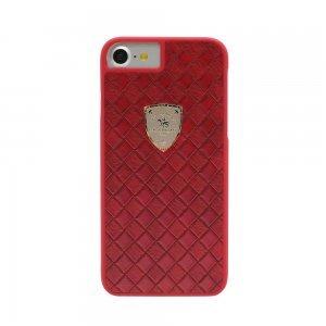 Кожаный чехол Polo Fyrste красный для iPhone 8 Plus/7 Plus