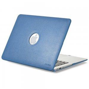 "Чехол-накладка для Apple MacBook Air 13"" - Kuzy Leather Hard Case голубой (Aqua)"