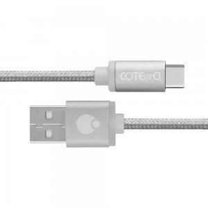 Кабель Coteetci M20 Type-C серебристый
