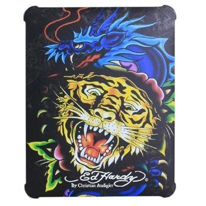 Чехол-накладка для Apple iPad - Ed Hardy Hard Case Tiger/Dragon разноцветный