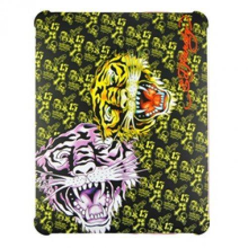 Чехол-накладка для Apple iPad - Ed Hardy Hard Case Tigers разноцветный