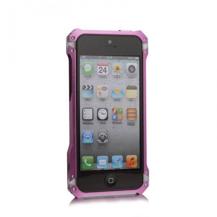 Чехол-бампер для Apple iPhone 5/5S - Element case Sector 5 Fiber Edition розовый