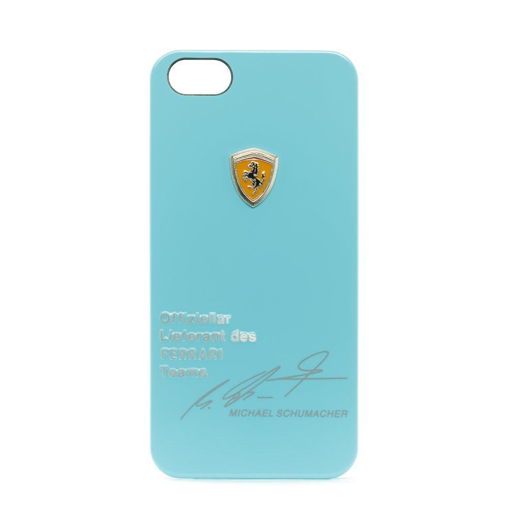 Чехол с рисунком Ferrari Design Michael Schumacher голубой для iPhone 5/5S/SE