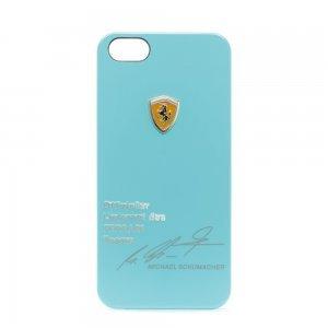 Чохол з малюнком Ferrari Design Michael Schumacher блакитний для iPhone 5 / 5S / SE