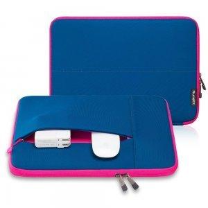 "Чехол-карман для Apple MacBook Pro 15""/Pro Retina 15"" - Runetz Neoprene Sleeve синий + розовый"