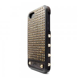 Чехол с кристаллами SWAROVSKI Lucien Elements Argent Noir Exclusive Selections Aurum золотой + чёрный для iPhone 5S/5/SE