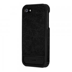 Кожаный чехол Lucien Elements Flagments чёрный для iPhone 5S/5/SE