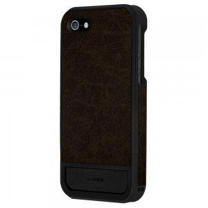 Чехол-накладка для Apple iPhone 5S/5 - Lucien Elements Flagments Leather коричневый