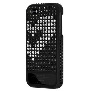 Чехол-накладка для Apple iPhone 5S/5 - Lucien Elements Hearts Exclusive Selections чёрный + белый