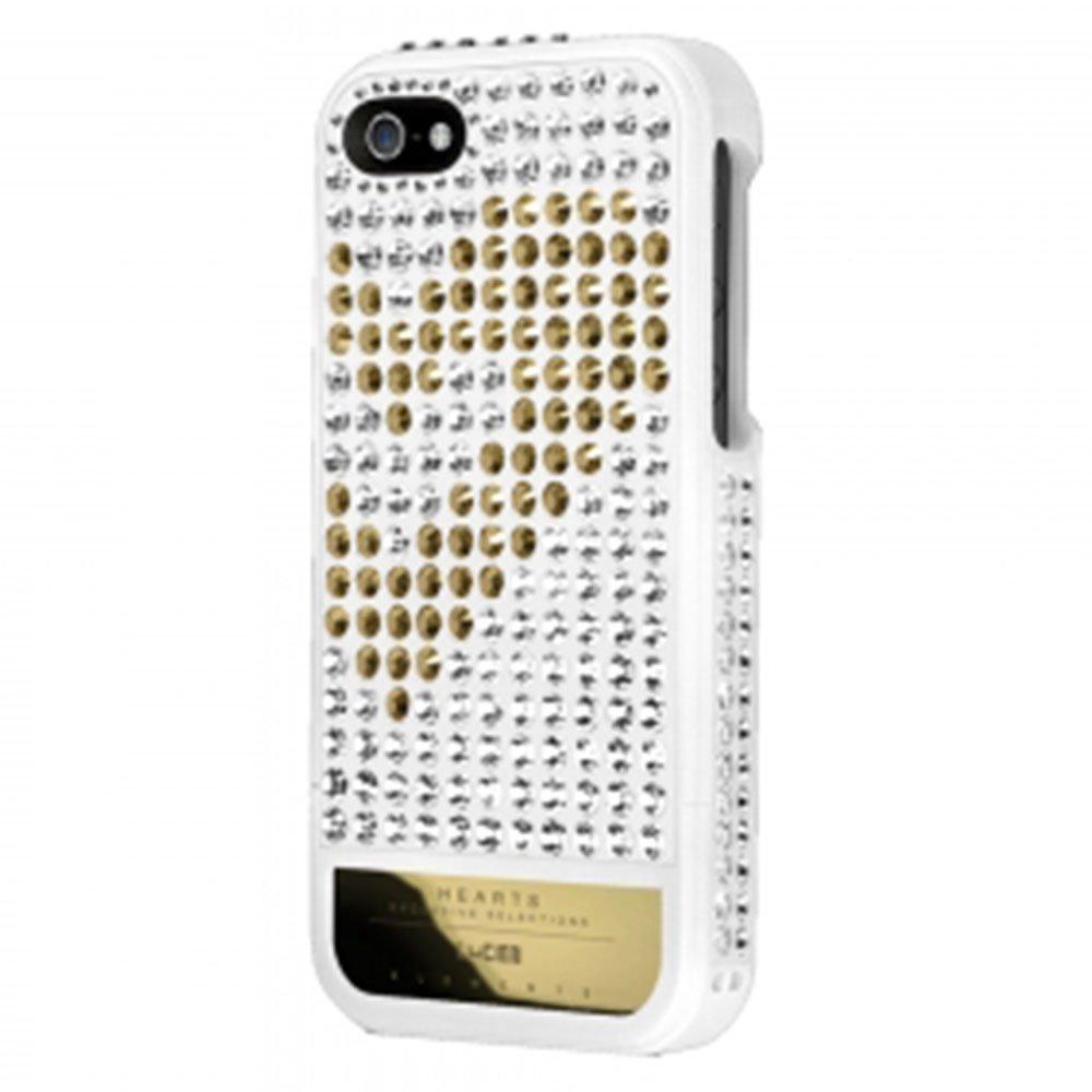 Чехол-накладка для Apple iPhone 5S/5 - Lucien Elements Hearts Exclusive Selections белый + черный