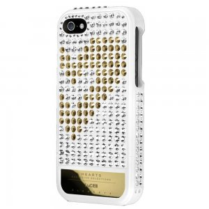 Чехол-накладка для Apple iPhone 5S/5 - Lucien Elements Hearts Exclusive Selections белый + золотистый