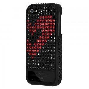 Чехол-накладка для Apple iPhone 5S/5 - Lucien Elements Hearts Exclusive Selections чёрный + красный