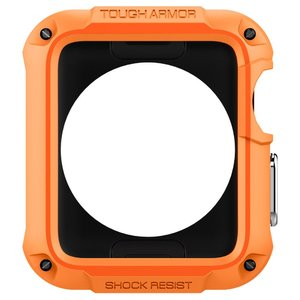 Чехол-накладка для Apple Watch 42mm - Spigen Tough Armor оранжевый (РЕПЛИКА)