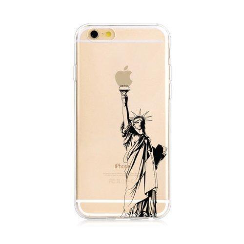 "Чехол-накладка для Apple iPhone 6 - Zethydum с рисунком ""Statue Of Liberty"""