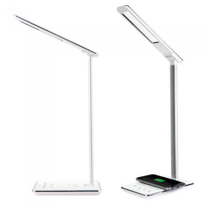 Лампа с беспроводной QI зарядкой для смартфонов - Baseus Ingert белая