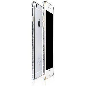 Чехол-бампер для Apple iPhone 6/6S - iBacks Arc-shaped Venezia серебристый