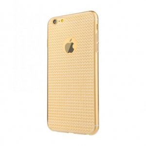 Полупрозрачный чехол Baseus Bling золотой для iPhone 6/6S Plus