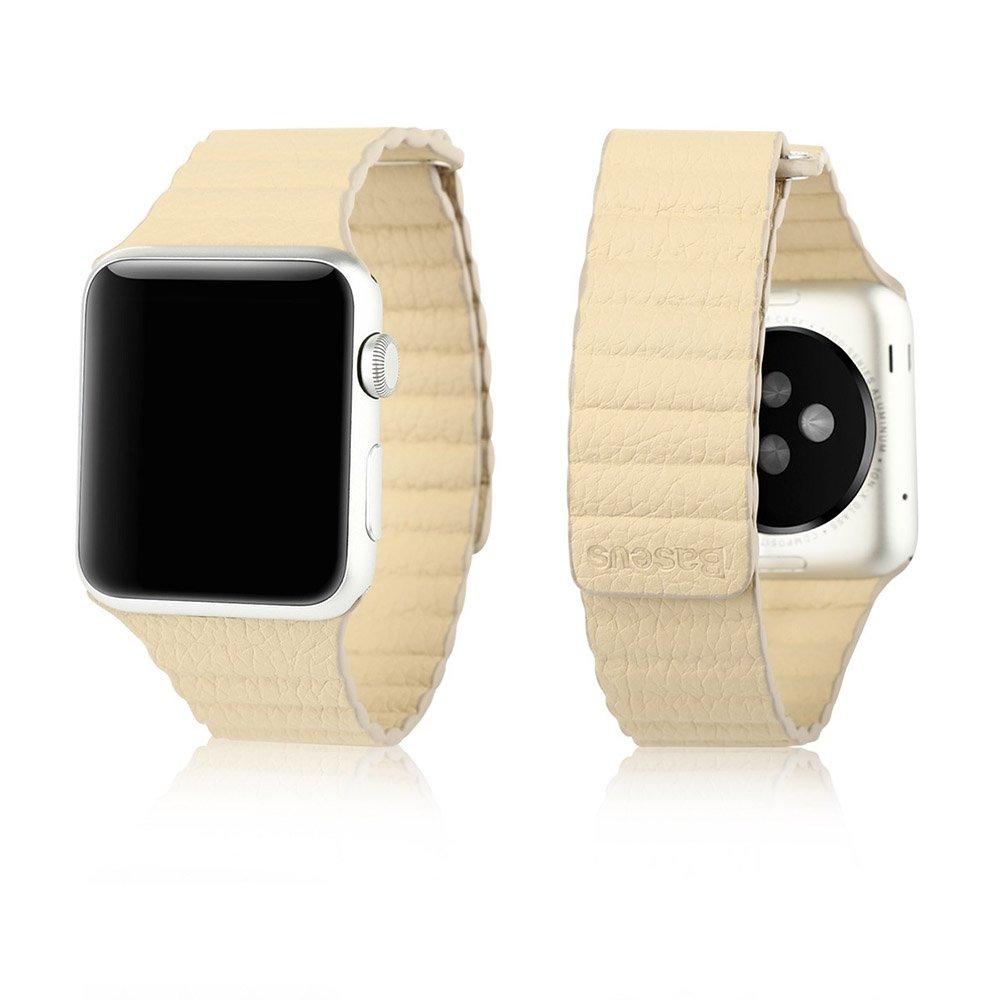 Ремешок для Apple Watch 42мм - Baseus Back Series бежевый