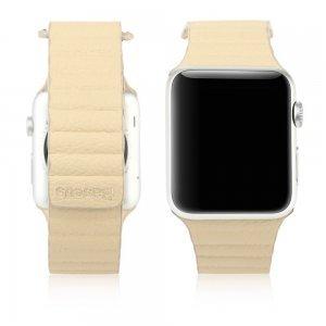 Ремешок Baseus Back Series бежевый для Apple Watch 42/44 мм