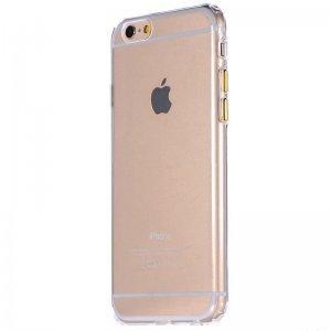 Силиконовый чехол COTEetCI ABS прозрачный + золотой для iPhone 6/6S Plus