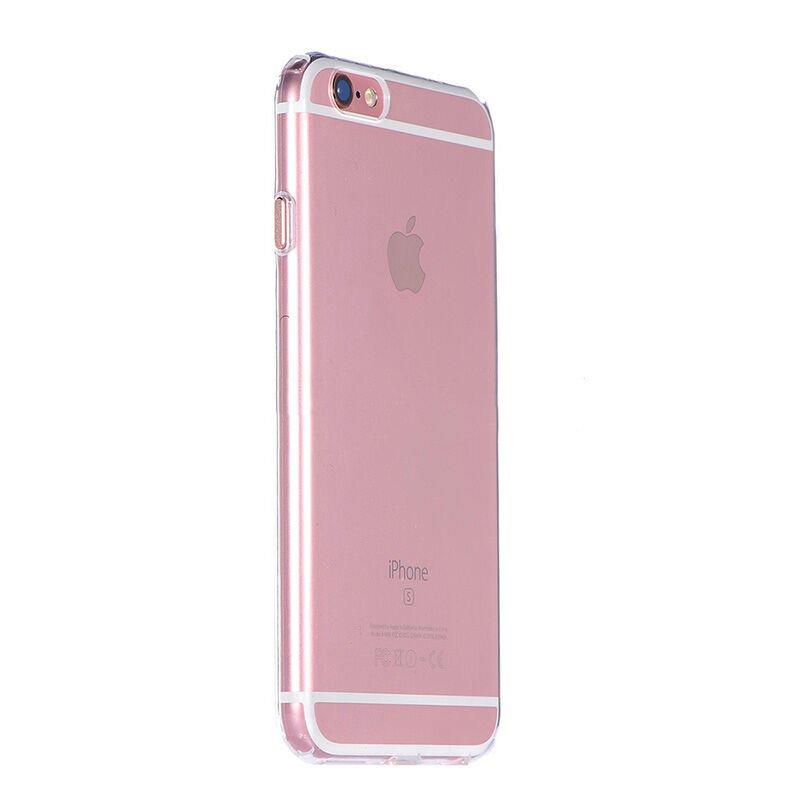 Силиконовый чехол COTEetCI ABS прозрачный + розовый для iPhone 6/6s Plus