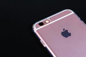 Силиконовый чехол COTEetCI ABS прозрачный + розовый для iPhone 6 Plus/6s Plus