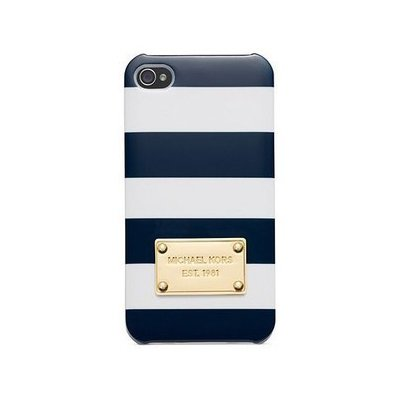 Чехол-накладка для Apple iPhone 5/5S - Michael Kors Design синий