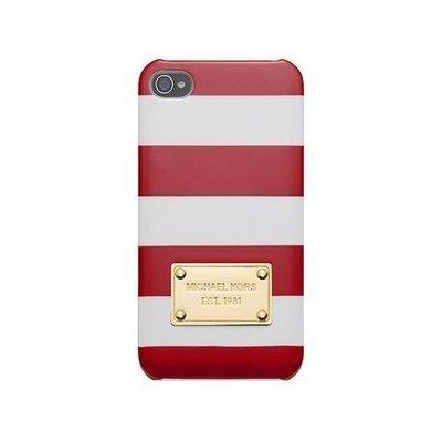 Чехол-накладка для Apple iPhone 5/5S - Michael Kors Design красный