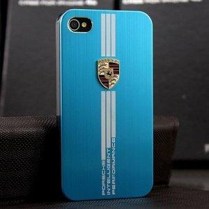 Чехол с рисунком Porsche Design голубой для iPhone 5/5S/SE