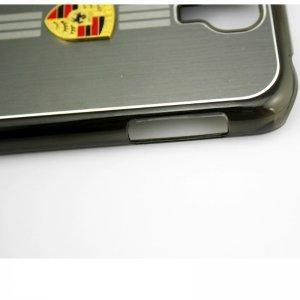 Чехол-накладка для Samsung Galaxy S4 - Porsche design серый