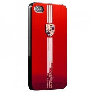 Чехол-накладка для Apple iPhone 5/5S - Porsche Design красный