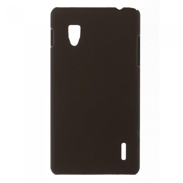 Чехол-накладка для LG OptimusG E973 - Hard Shell Case черный