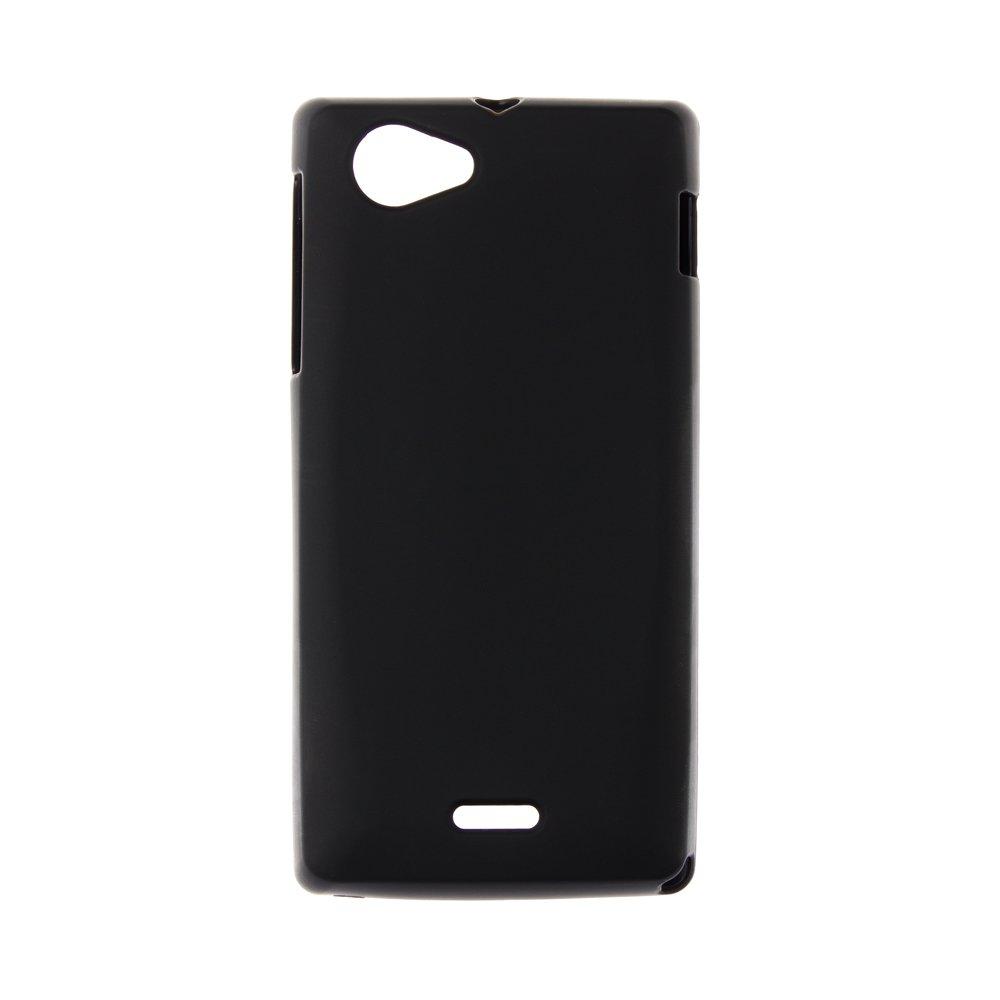 Чехол-накладка для Sony Xperia J ST26i - Hard Shell черный