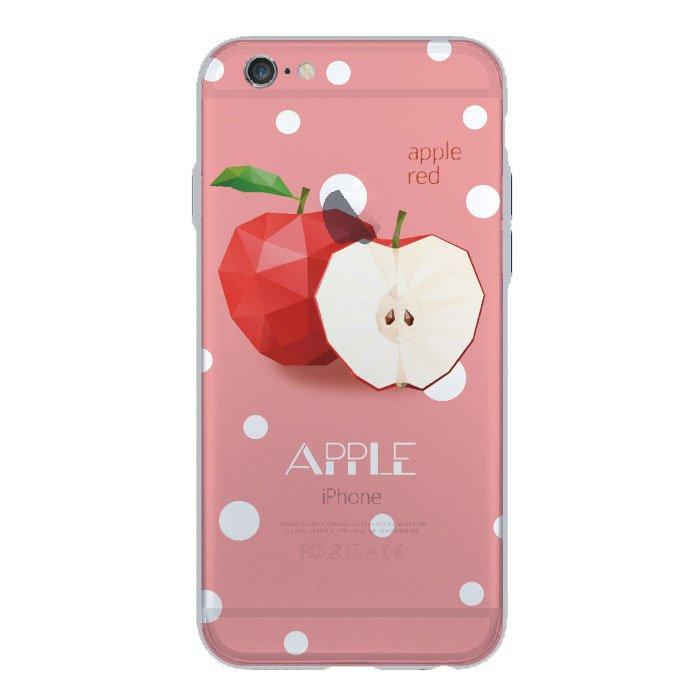 Чехол с рисунком WK Apple Red красный для iPhone 6/6S