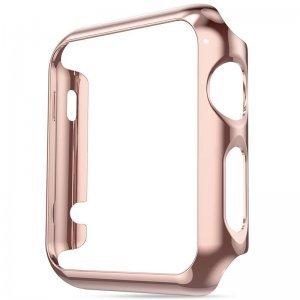 Ультратонкий чехол Coteetci розовое золото для Apple Watch 3/2 42мм