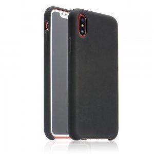 Силиконовый чехол Coteetci чёрный для iPhone X/XS