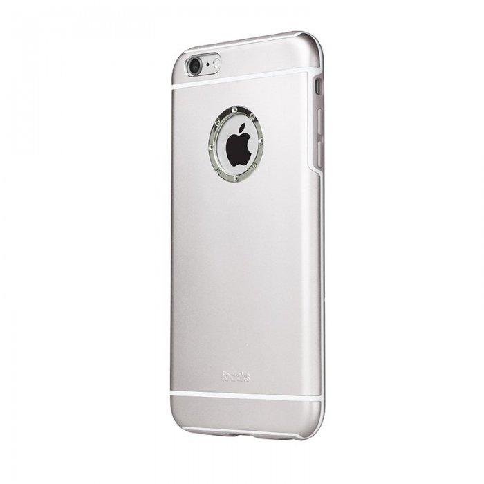 Чехол со стразами iBacks Armour Crystal Cartier серебристый для iPhone 6/6S