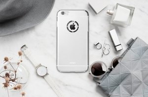 Чехол со стразами iBacks Armour Crystal Cartier серебристый для iPhone 6/6S