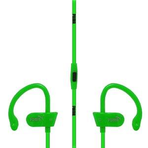 Наушники Puma Sport с микрофоном, зеленые