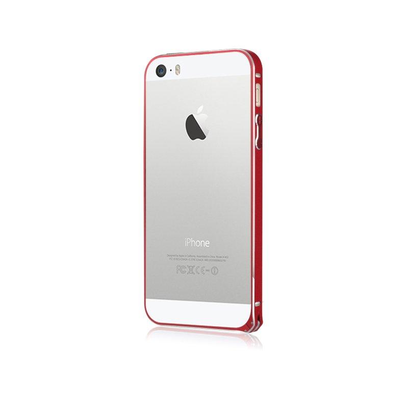 Бампер BASEUS Golden Light красный для iPhone 5/5S/SE