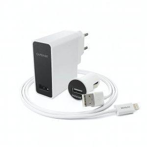 Комплект зарядных устройств Capdase Ampo K1 Lightning белый