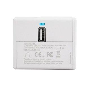 Сетевое зарядное устройство универсальное Capdase Travel Adapter BlockOne 2.1 A, белое