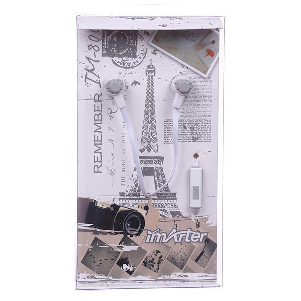 Наушники imArter Provence IM-800 с микрофоном, белые