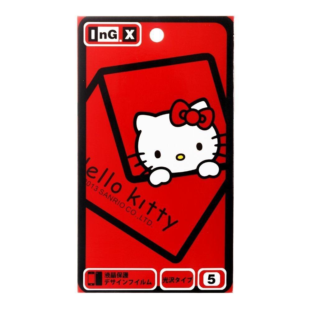 Наклейка для Apple iPhone 5/5S - InG.X Skin Hello Kitty красная