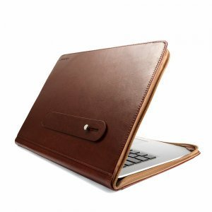 "Чехол-книжка для Apple MacBook Pro 13"" Retina - J.M.Show Thin Leather коричневый"